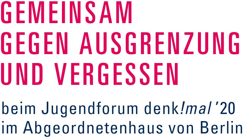 denk!mal 2020: Gemeinsam gegen Ausgrenzung und vergessen